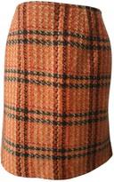 Max Mara Orange Wool Skirts