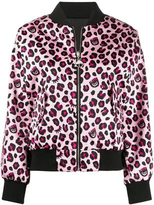 Chiara Ferragni leopard print bomber jacket