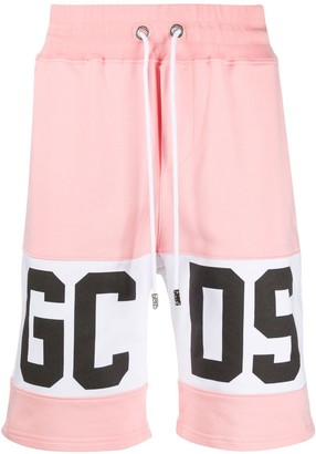 GCDS Colour Block Logo Print Shorts