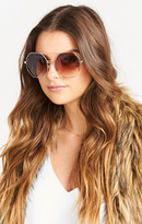 MUMU Perverse Sunglasses ~ Vista Cruisin ~ Shiny Gold w/ Tan Gradient Lenses