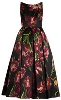 Dolce & Gabbana Tulip-print sleeveless duchess silk-satin gown