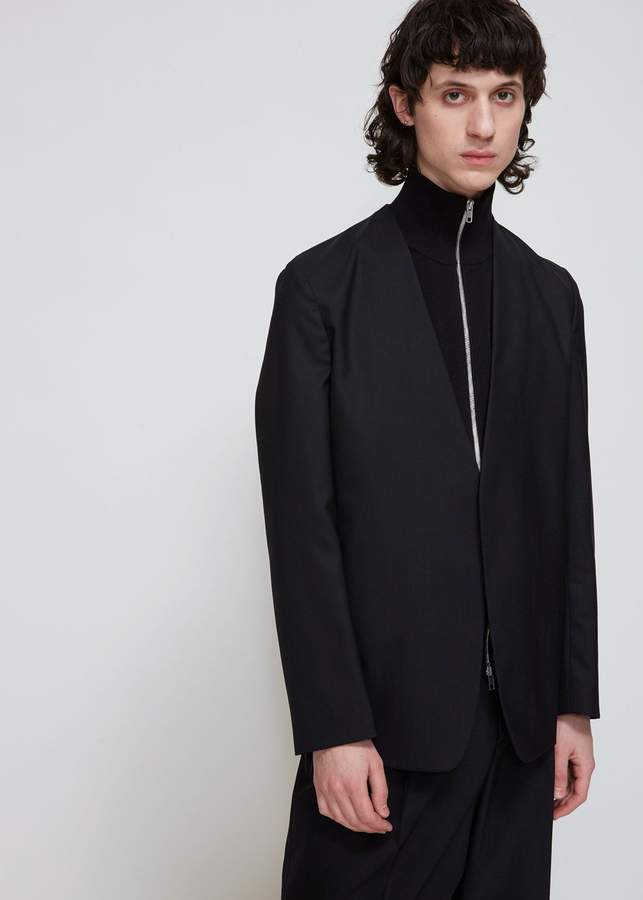 Maison Margiela Wool Poplin Deconstructed Jacket