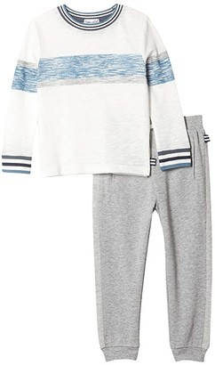 Splendid Littles Screened Stripe Top Set (Toddler/Little Kids/Big Kids) (Egret) Boy's Active Sets