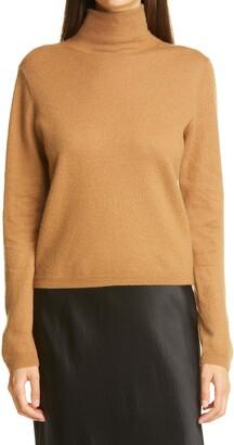 Vince Cashmere Crop Turtleneck Sweater