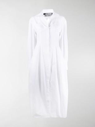 Jacquemus Valensole cutout shirt dress