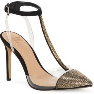 INC International Concepts Inc Women's Kaylona Gold Cap-Toe T-Strap Pumps, Created For Macy's Women's Shoes