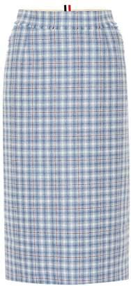Thom Browne Checked wool skirt