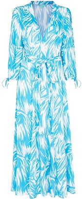Melissa Odabash Gabby brushstroke print wrap dress