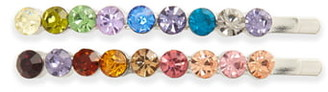 Tasha 2-Pack Rainbow Crystal Bobby Pins