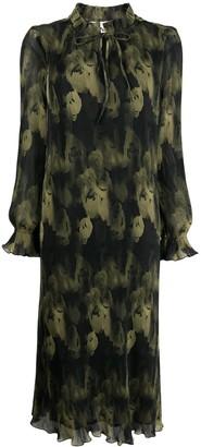 Ganni Pleated Maxi Dress