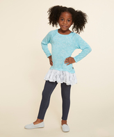 Dollie & Me Turquoise & Cream Top Set & Doll Outfit - Girls