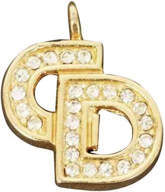 Christian Dior Monogramme Gold Metal Pendants