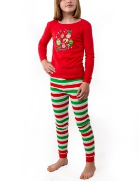 Rudolph The Red Nosed Reindeer Matching Girls The Grinch Two Piece Pajamas, Online Only