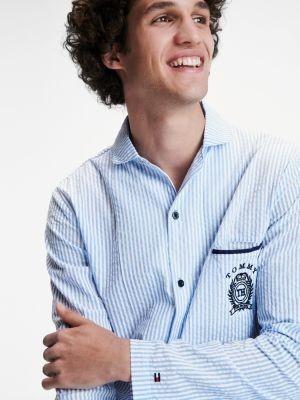 Tommy Hilfiger Stripe Seersucker Pyjama Shirt
