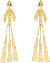 J.W.Anderson Bird hammered gold-plated earrings