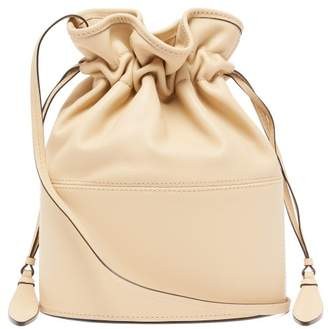 Hunting Season Lola Large Leather Bucket Bag - Womens - Cream