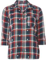 Dorothy Perkins Star Embroidered Check Shirt