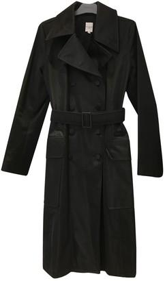 Et Vous Black Cotton Trench Coat for Women