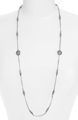 Konstantino 'Silver Classics' Long Filigree Station Necklace