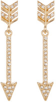 Natasha Accessories Crystal Arrow Drop Earrings
