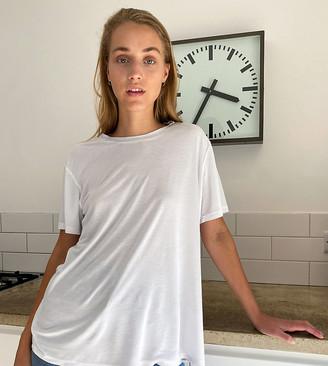 ASOS DESIGN Tall open back t-shirt in white