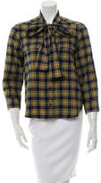 DSQUARED2 Plaid Long Sleeve Top