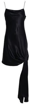 Cinq à Sept Ryder Knotted Silk-satin Mini Slip Dress
