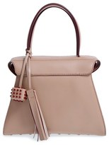 Tod's 'Twin' Leather Satchel - Beige
