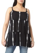 Evans Plus Size Women's Embroidered Tunic Tank