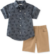 Kids Headquarters 2-Pc. Cotton Dino-Print Shirt & Shorts Set, Baby Boys (0-24 months)