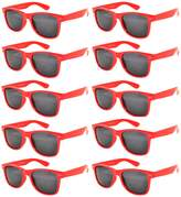 OWL Retro Vintage Smoke Lens Sunglasses Red 10 Pack