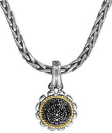 Effy Ballissima by Black Diamond Flower Pendant (1/5 ct. t.w.) in Sterling Silver and 18k Gold
