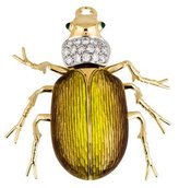 Tiffany & Co. 18K Diamond & Emerald Scarab Beetle Brooch