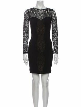 Emilio Pucci Lace Pattern Mini Dress Black