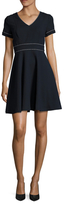 Shoshanna Seamed Fit And Flare Dress