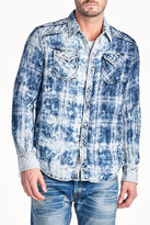 Cult of Individuality Leno Plaid Long Sleeve Regular Fit Shirt