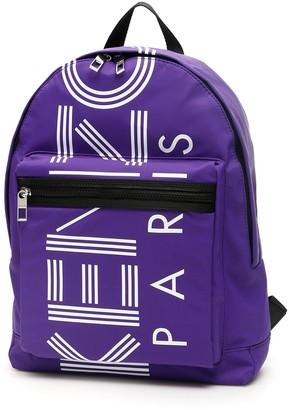 Kenzo Logo Printed Backpack