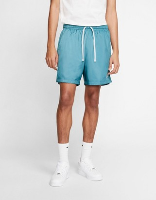 Nike woven logo shorts in blue