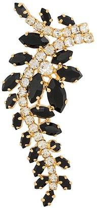 Christian Dior X Susan Caplan 1977 Archive Embellished Foliate Brooch