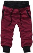 Panegy Men Sport Gym Jogger Loose Casual Shorts Harem Pants Trousers Size L