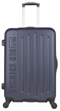 Ben Sherman Luggage Hardside Embossed 24-Inch Checked Hard Shell Luggage