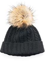 Women's SIJJL Cable-Knit Wool Beanie