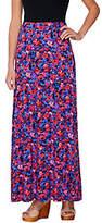Isaac Mizrahi Live! Floral Print Knit Maxi Skirt