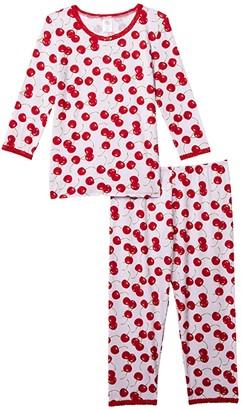 esme 3/4 Sleeve Top Crop Leg (Big Kids) (Dogs) Girl's Pajama Sets