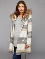 A Pea in the Pod Bb Dakota Faux Fur Trim Maternity Jacket