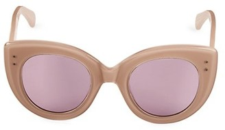 Alaia 48MM Oversized Cat Eye Sunglasses