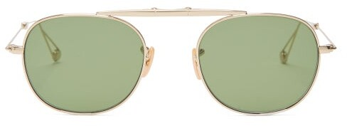 Garrett Leight Van Buren Sunglasses - Mens - Gold