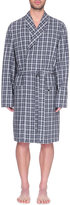 Hanro Paolo Checked Cotton Dressing Gown