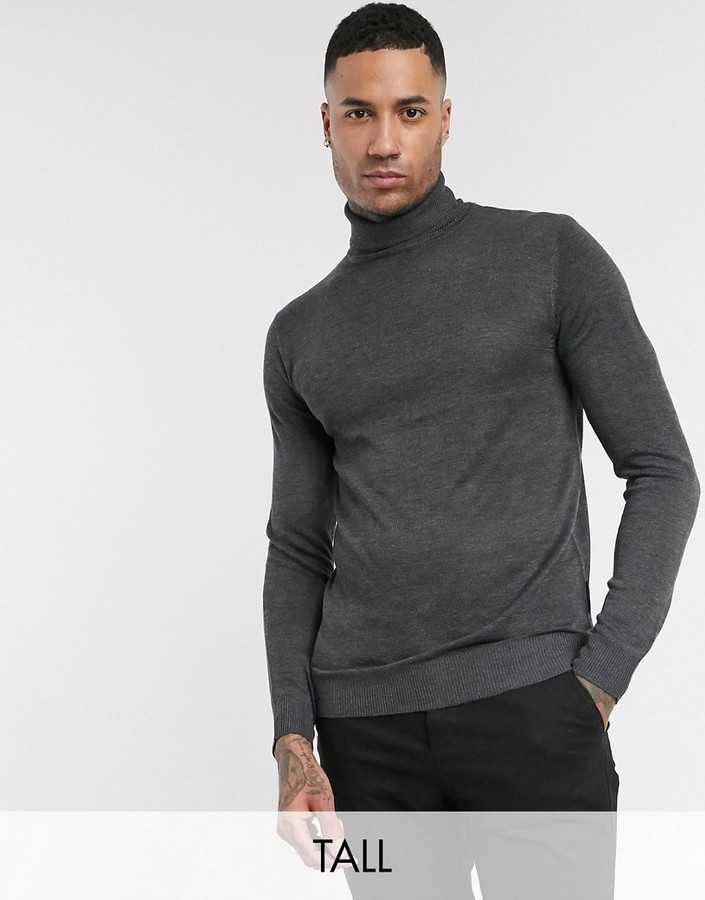 French Connection TALL fine guage roll neck sweater