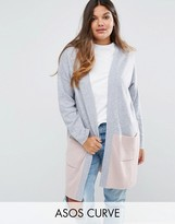 Asos Cardigan In Color Block